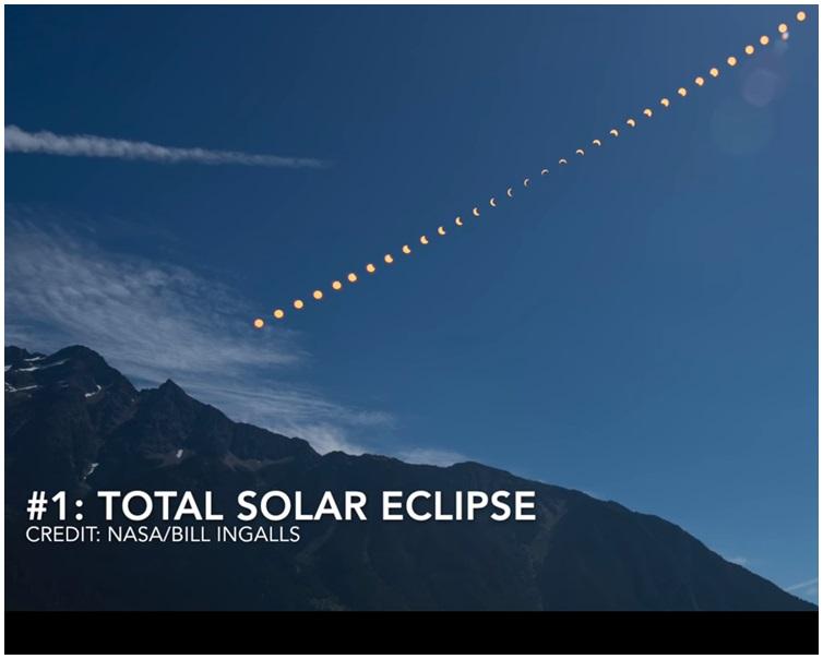 「北瀑布國家公園羅斯湖的日全蝕」照片獲高達147萬人like奪冠。片段截圖