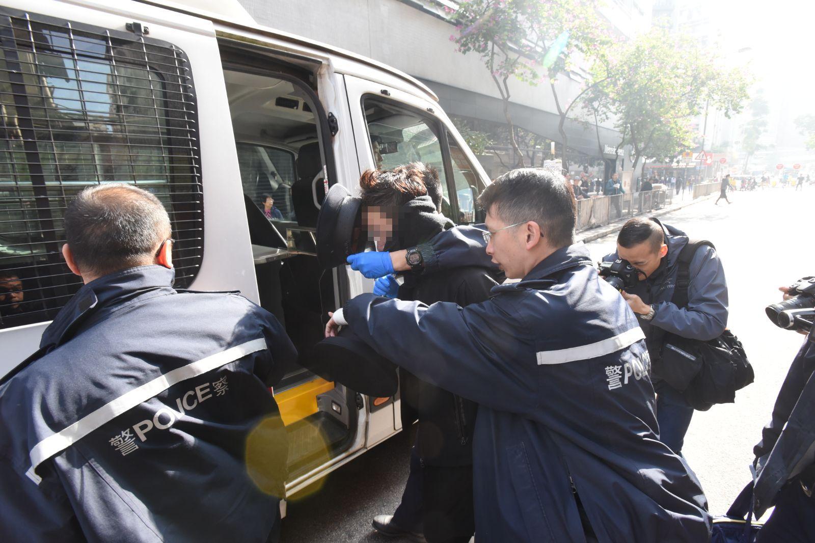 男子被捕。梁國峰攝