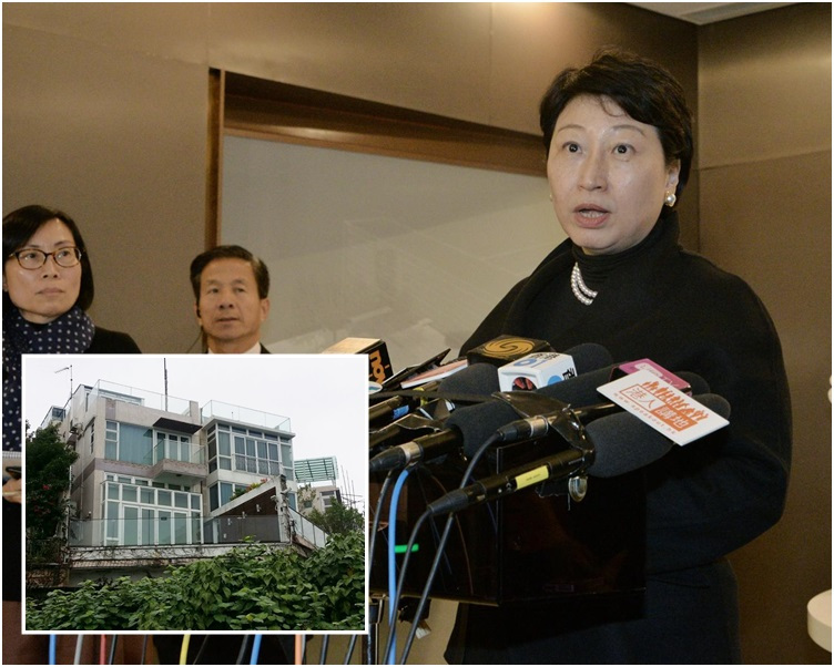 鄭若驊表示購買物業時,大宅情況已是這樣,並沒有在屋內做任何結構性改動。