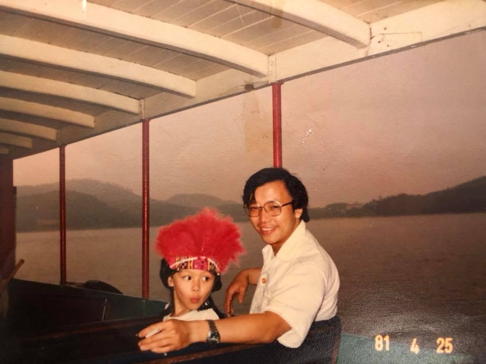 徐若瑄近日不時在fb懷念父親。