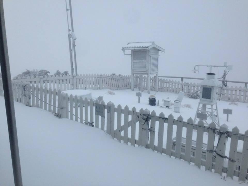 玉山氣象站。