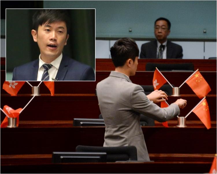 鄭松泰被裁定侮辱國旗區旗兩罪罪成。資料圖片