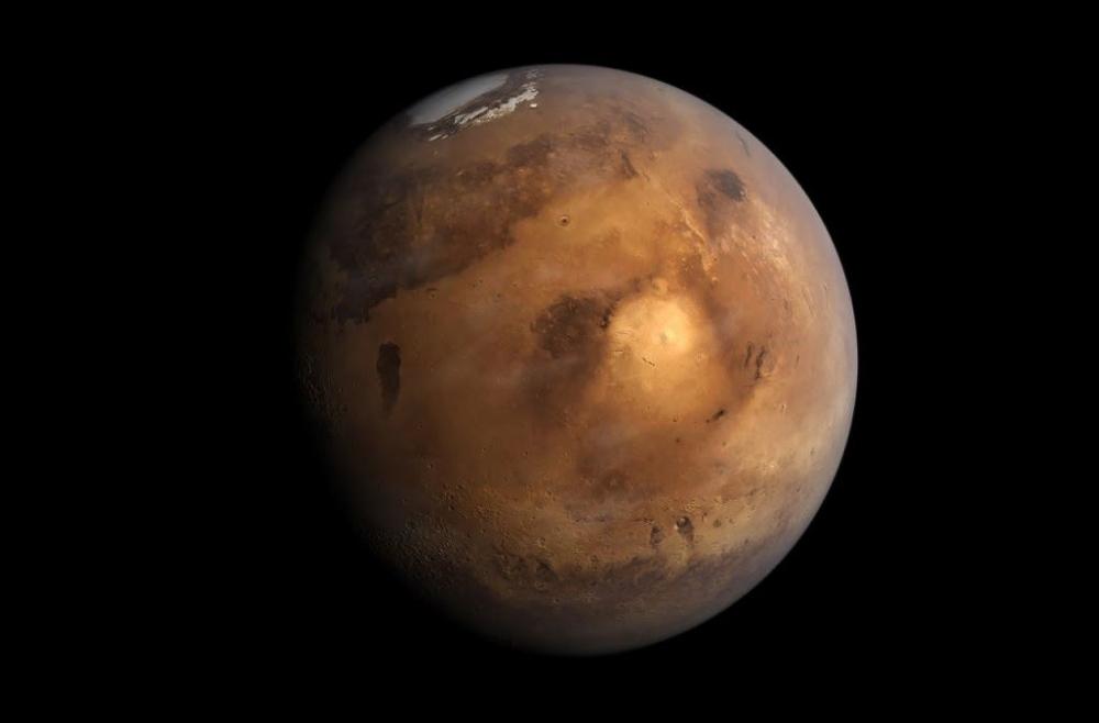 研究人員指出,火星上發現深埋冰川。