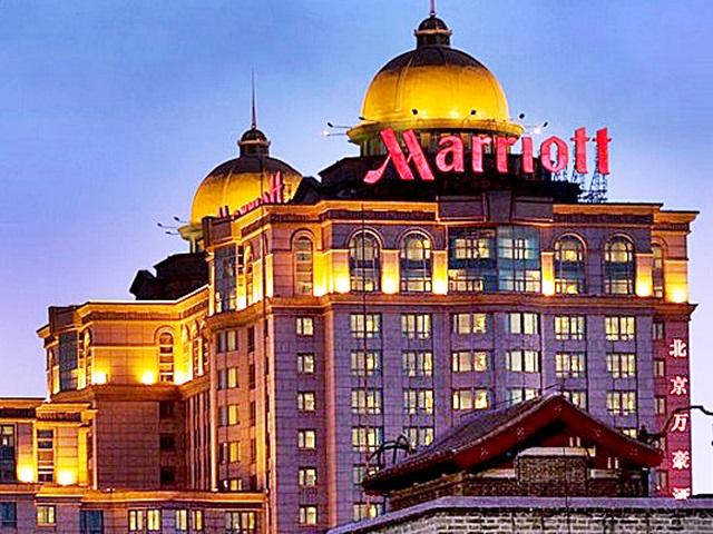 一家國內知名大型企業取消原定今晚在上海一家萬豪酒店舉辦的年會。資料圖片