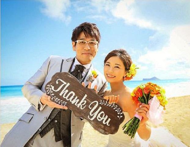 Piko太郎近日到夏威夷補辦婚禮。