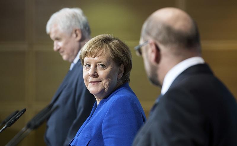包括默克爾在內的6位政黨與國會領導人,已就組成聯合政府的藍圖達成協議。AP
