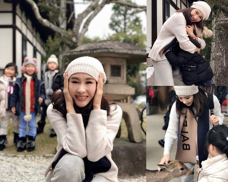 黎姿藉與女兒遊公園讚頌母愛。