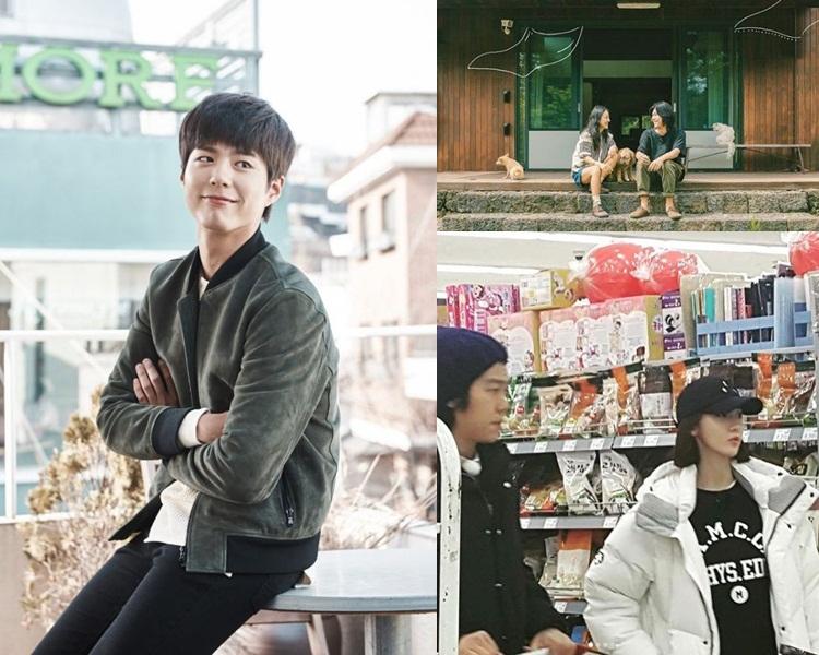 寶劍能與偶像李孝利合作定很開心;潤娥日前已抵濟州拍攝。