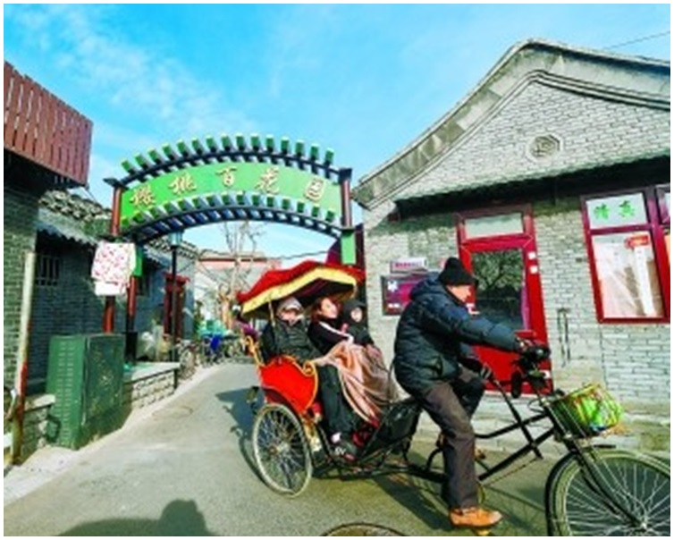 拆除了架空電線,北京歷史古貌回復美觀。