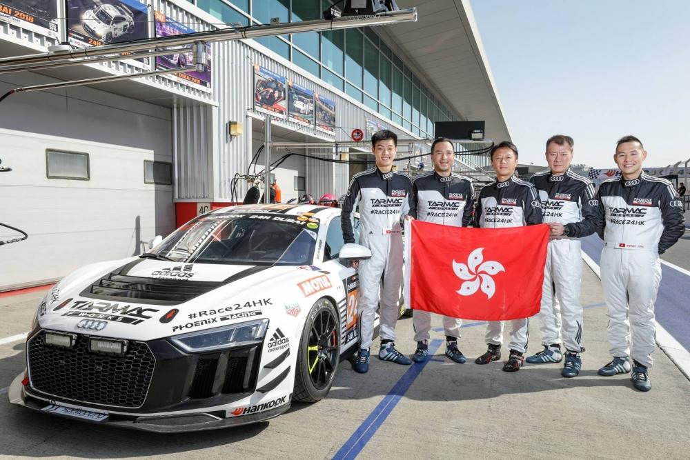 左起:唐偉楓,歐陽若曦,李英健,關兆昌,方駿宇。香港賽車會Facebook圖片