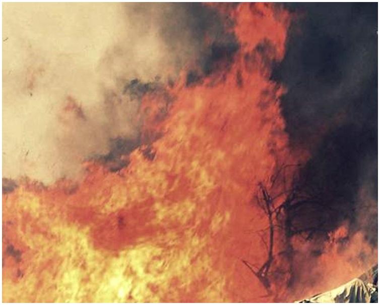 大火引致人踩人慘劇死傷嚴重。