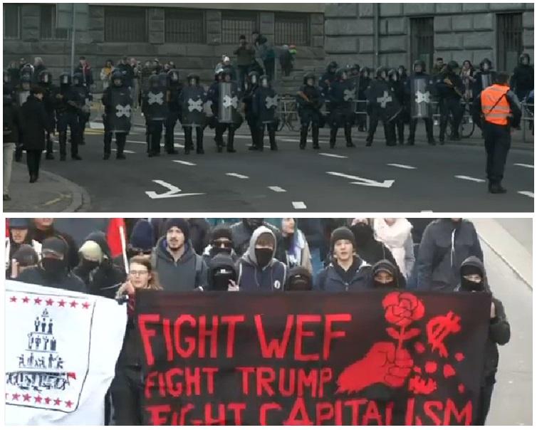 有數百人上街示威。網圖