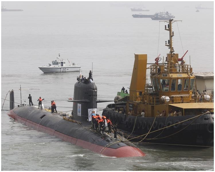 印度核潛艇「殲敵者號」。網圖