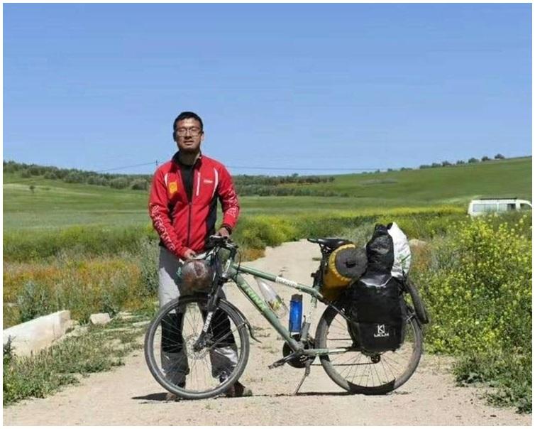 袁江磊騎單車16000公里,歷時360多天回到了家鄉浙江。