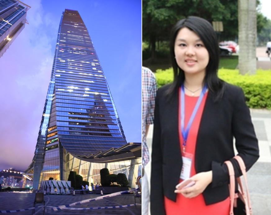 去年8月,廖伊琳曾入住該酒店。