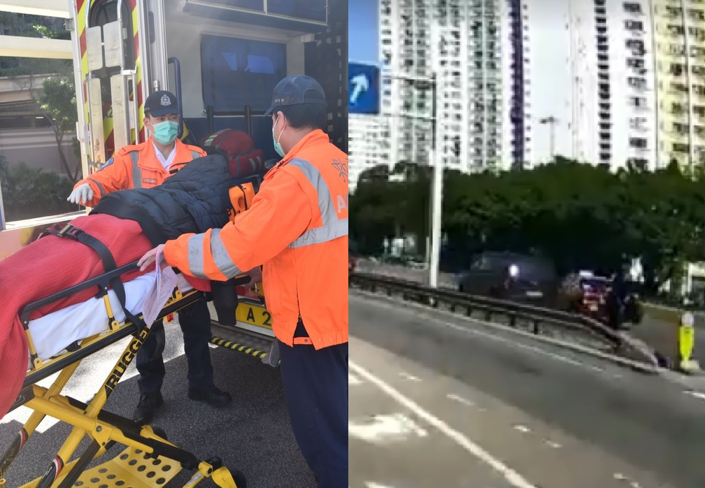 事發一刻(右圖:馬路的事FB影片截圖)。