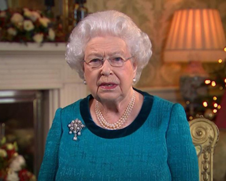 英女皇伊利沙白二世。網圖
