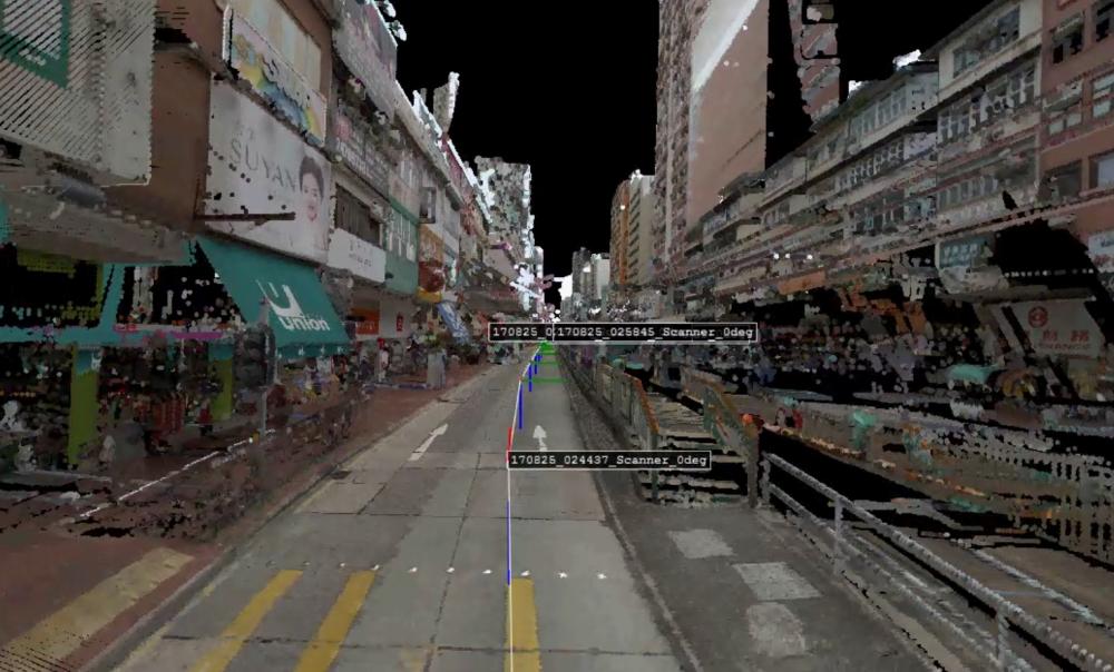 地政總署人員會透過車載移動測量系統實拍街景。