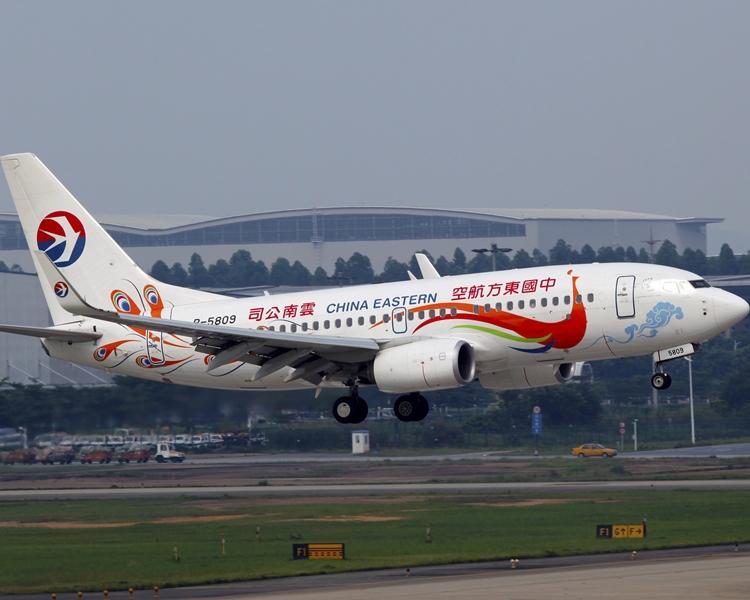 中國東方航空的加班機暫不獲批。網圖