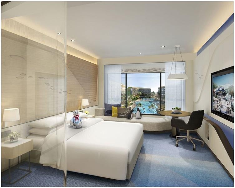 酒店有3款設計獨特的主題客房。