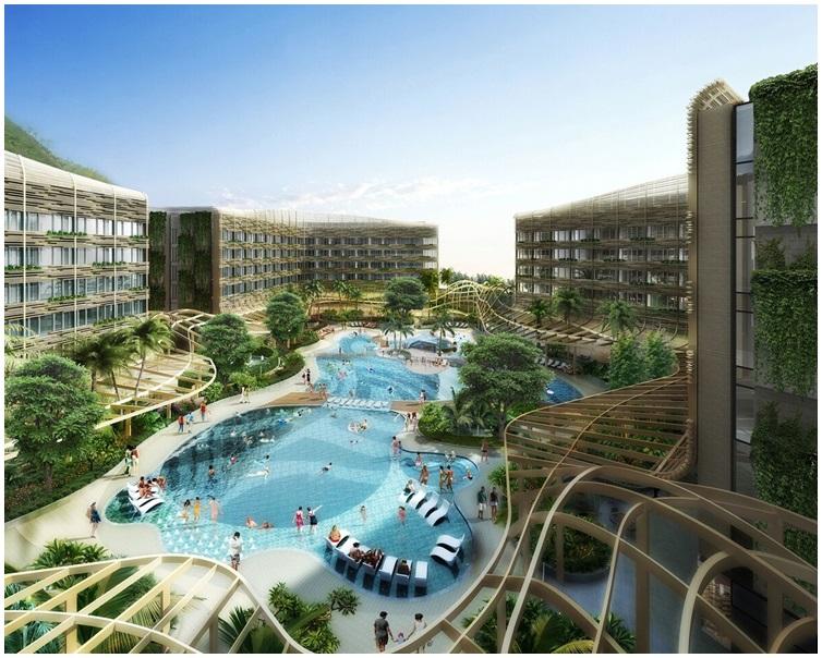 酒店設有礁湖主題游泳池。