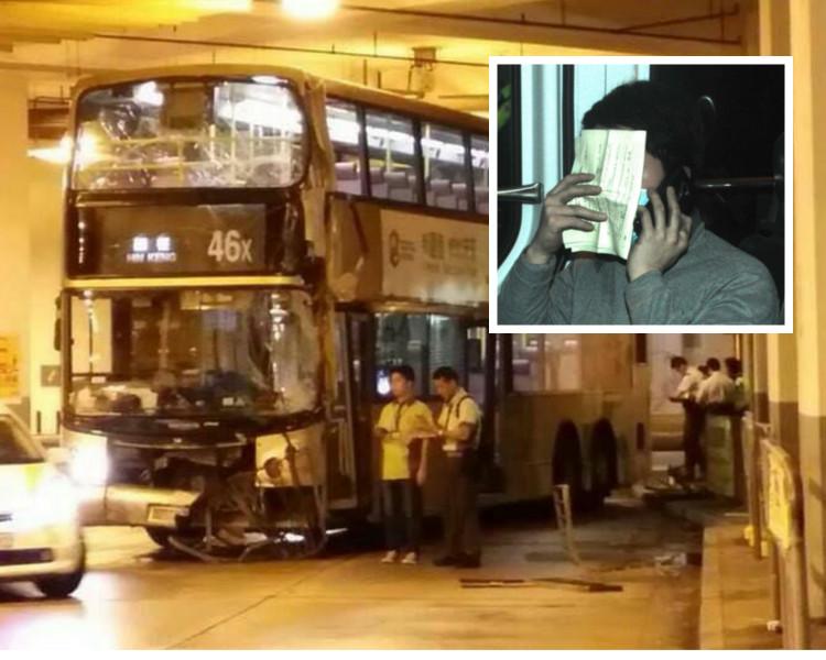 2014年一輛46X巴士亦曾發生意外,疑為同一車長。網圖/李子平攝