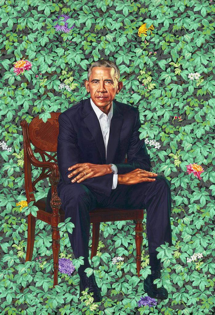 奧巴馬肖像。AP圖片