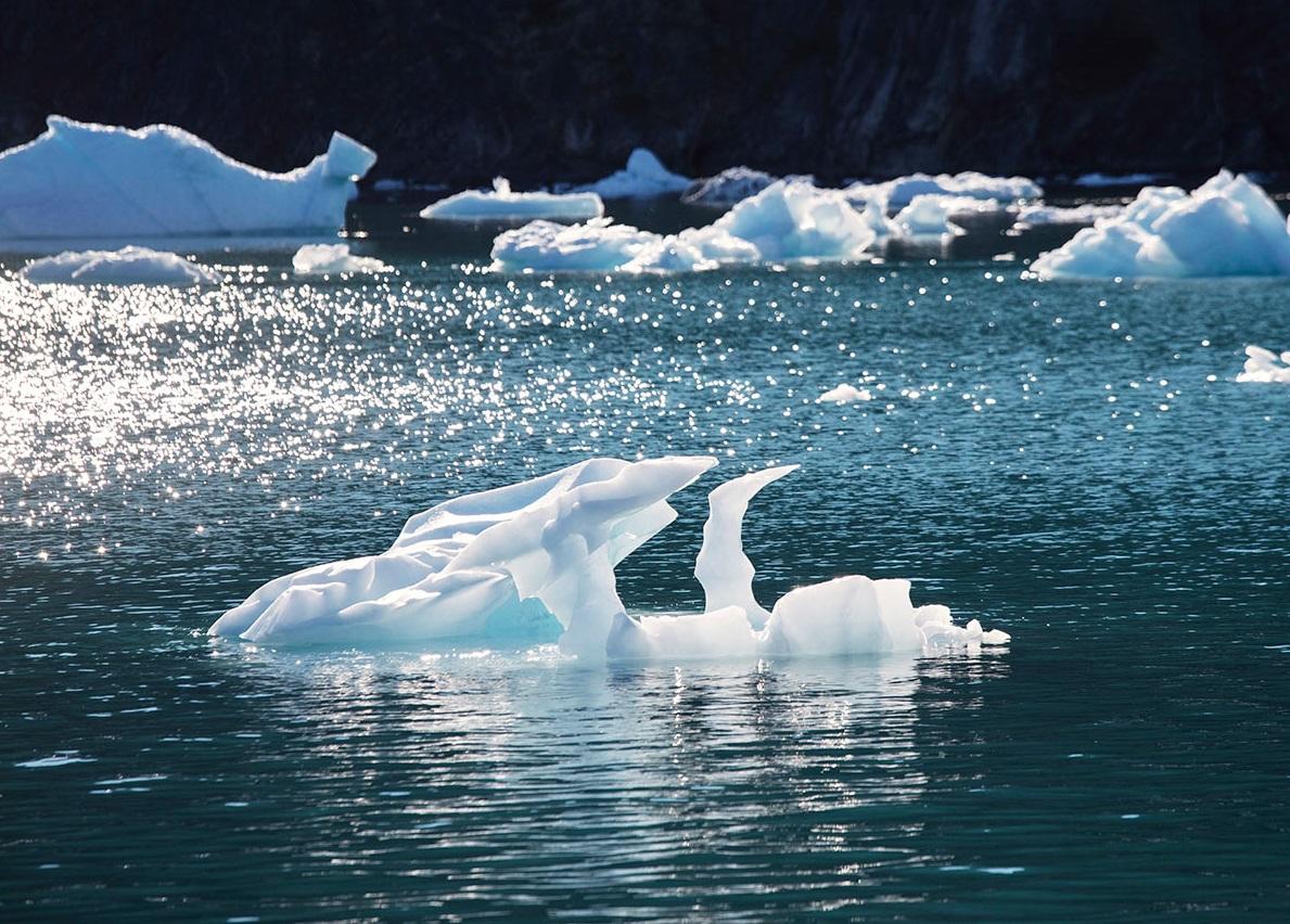 格陵蘭的冰層加速融化。AP圖片