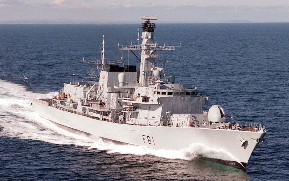 英國戰艦薩瑟蘭號(HMS Sutherland)下月預料駛入南海。網上圖片