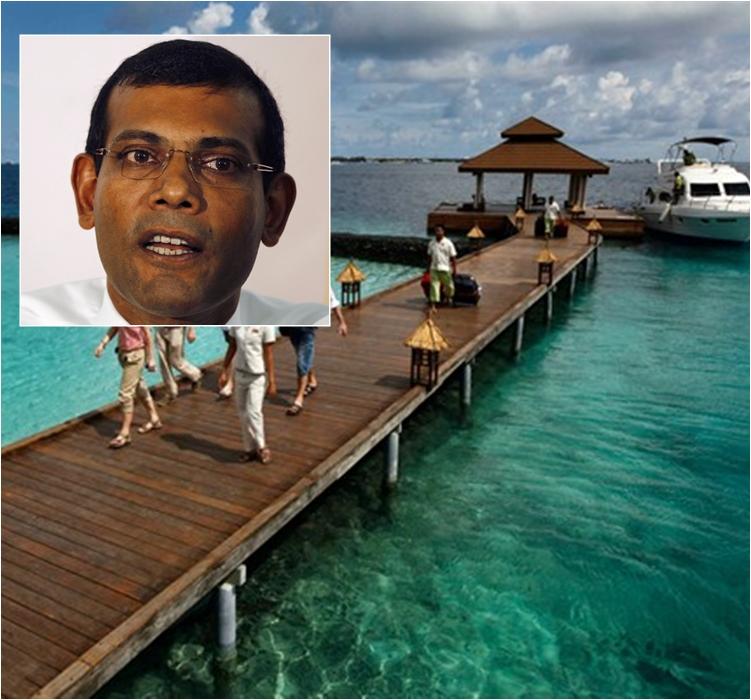 馬爾代夫前總統指中國掠奪17座島嶼。AP資料圖片