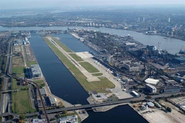 倫敦城市機場重開。網上圖片