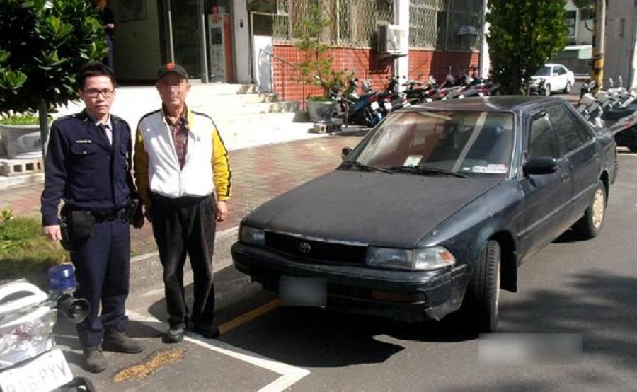 台中老翁忘記亂停座駕誤當偷車報警。網上圖片