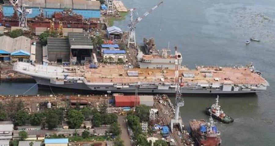 印度第一艘國產航空母艦「維克蘭特號」。網上圖片
