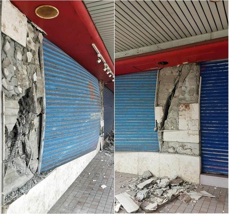台灣花蓮地標「舊遠東百貨大樓」變成危樓。網上圖片