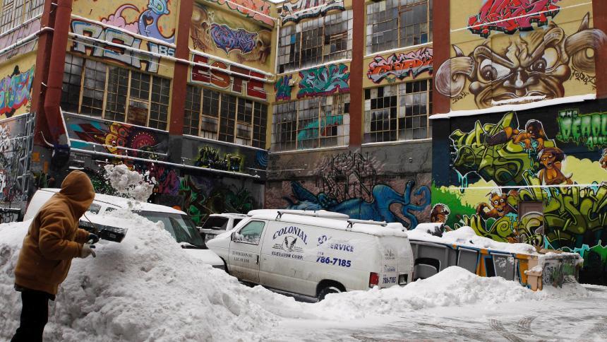 倉庫2013年被噴上塗鴉。網上圖片