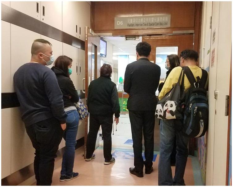 事發後女童的父母、嫲嫲、學校校長、校董趕到醫院。資料圖片