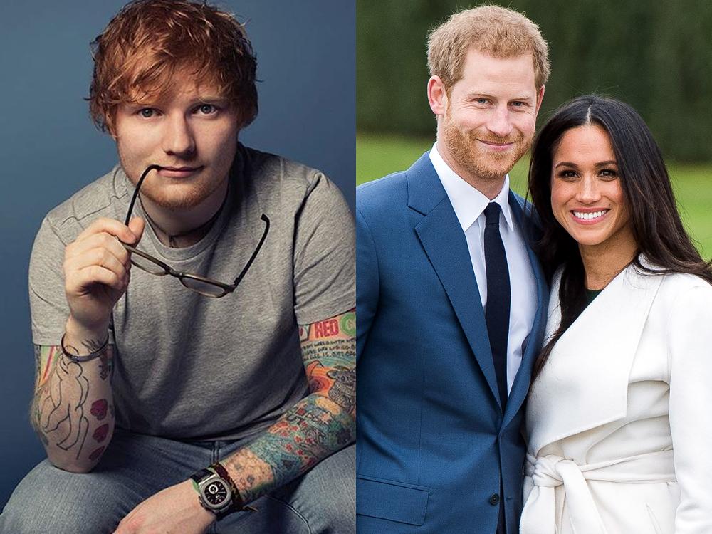 有傳哈里王子親自邀請Ed Sheeran在婚宴上獻唱。