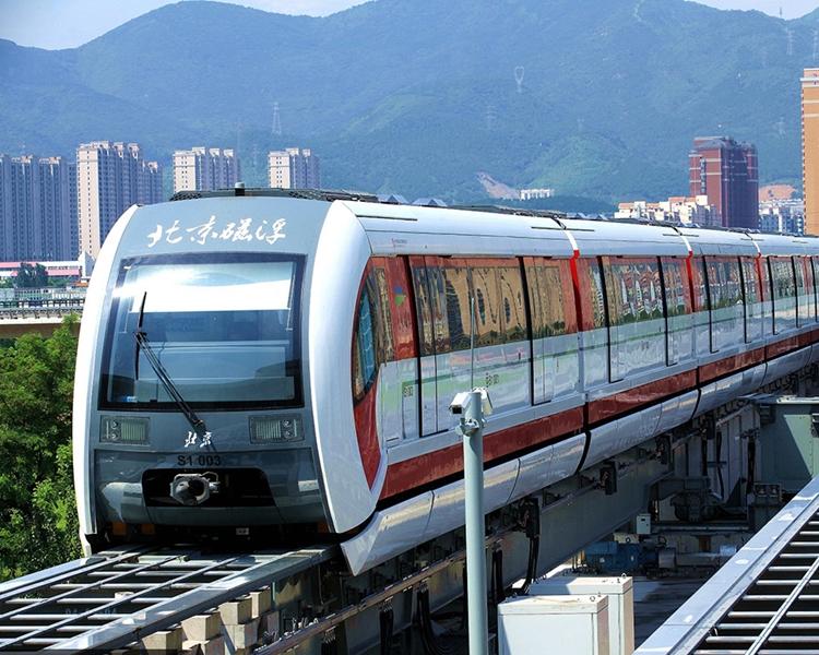 北京去年底開通中低速磁浮S1號示範線。網圖