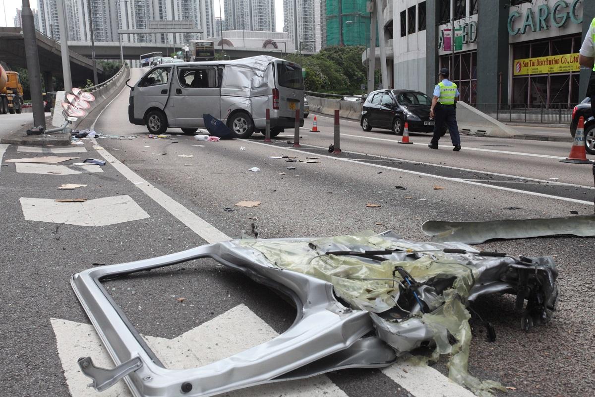 荃灣德士古道天橋2013年造成1死5傷的嚴重車禍。資料圖片
