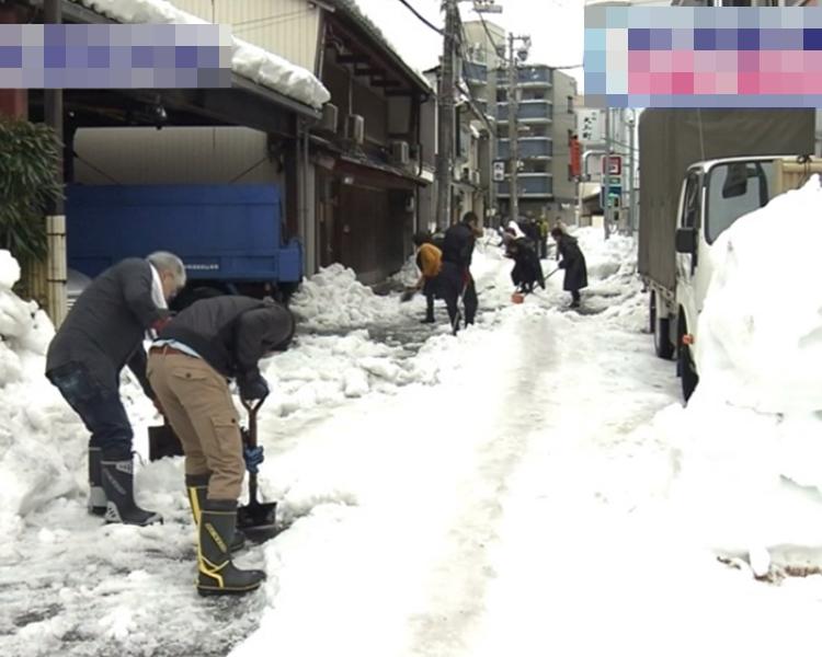 福井縣積雪厚度為2.78米。網圖