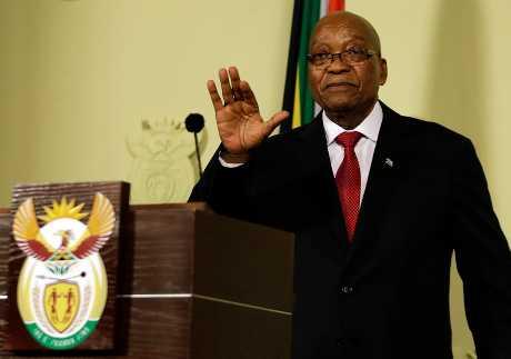 南非總統朱瑪今天宣布辭職,結束9年執政。AP