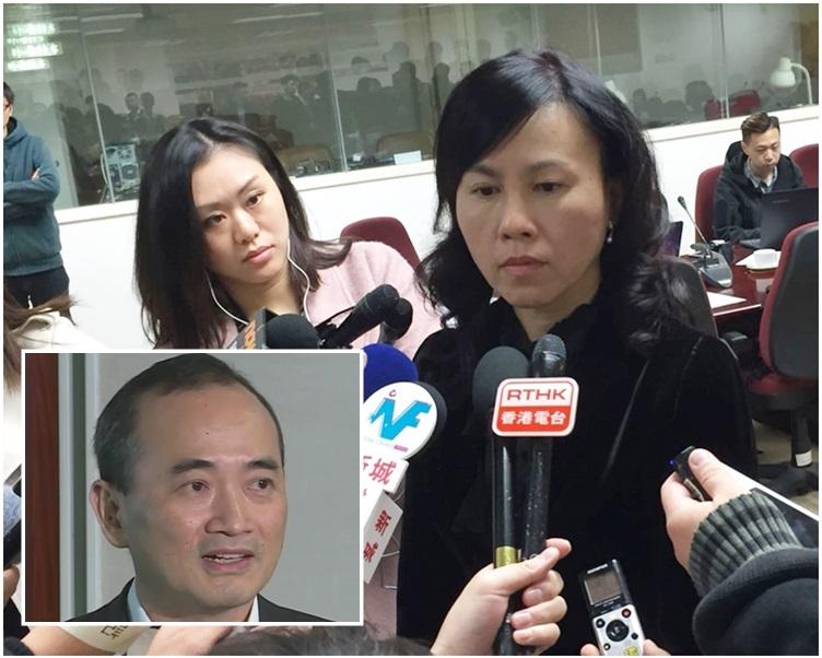陳美寶指政府必須確保專營巴士服務不受影響。小圖為李澤昌。