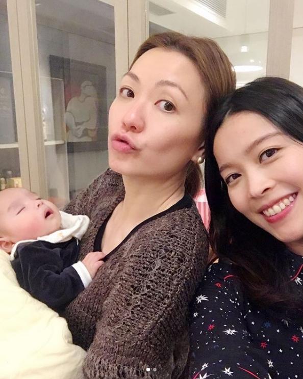 田蕊妮、賴慰玲兩母子