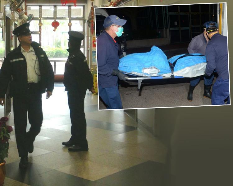 警員今早再到場,死者遺體舁送殮房。蔡楚輝/林思明攝