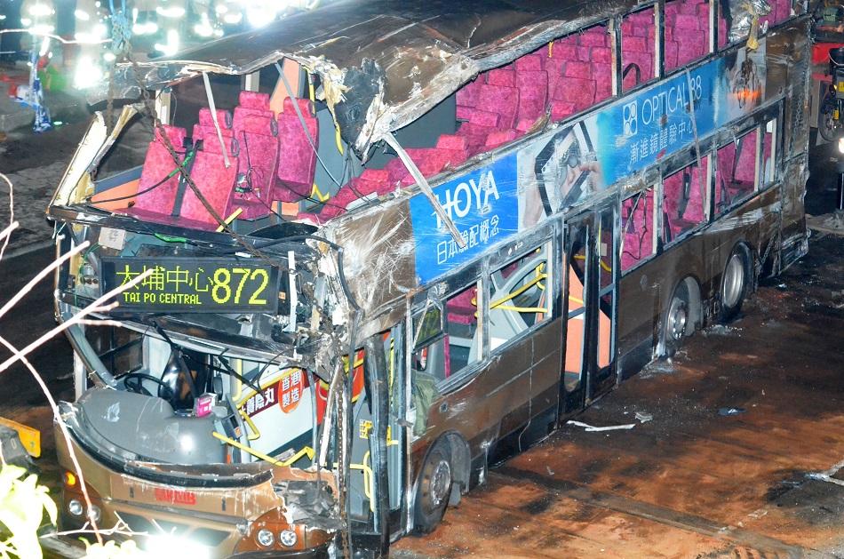 九巴翻側車禍3人出院仍有18人留醫。資料圖片