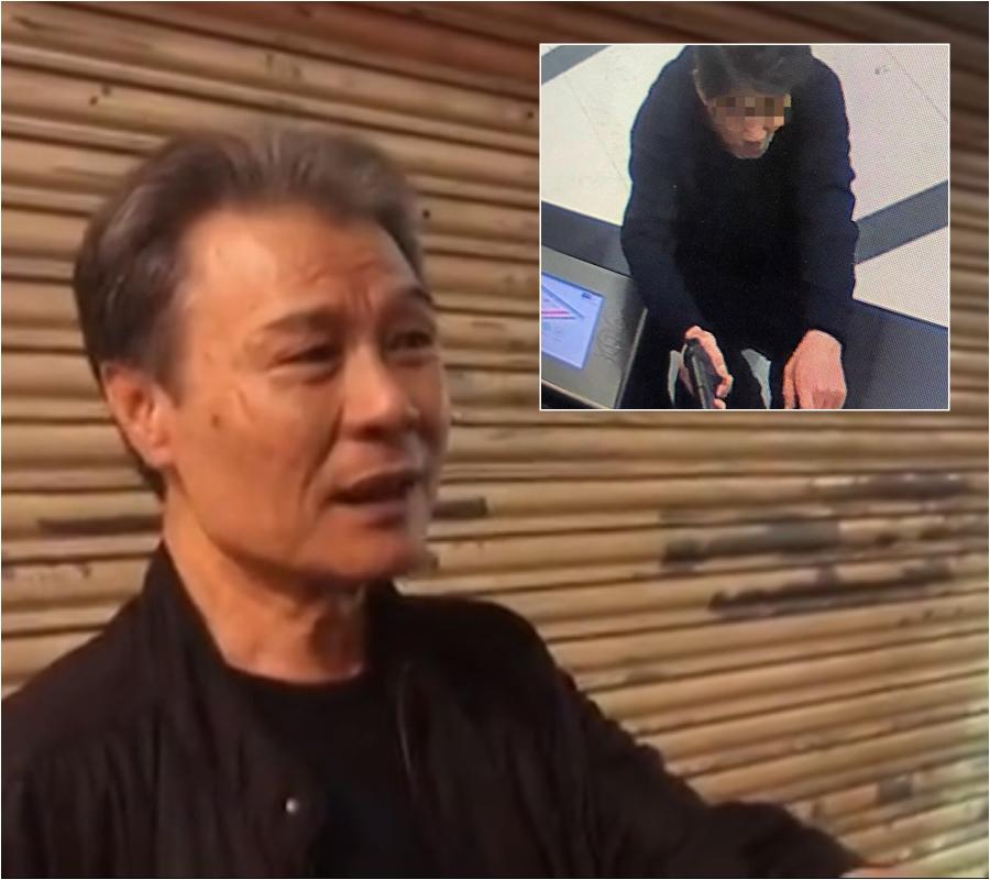 興哥重溫31年前被疑犯挾持畫面。
