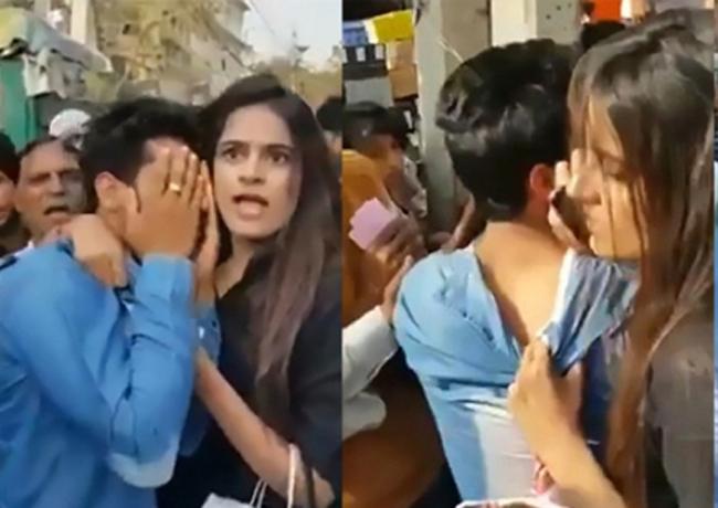 該名女大學生,日前在街上被兩名男子性騷擾,捉住其中一名性騷擾她的男子,並報警。 網圖