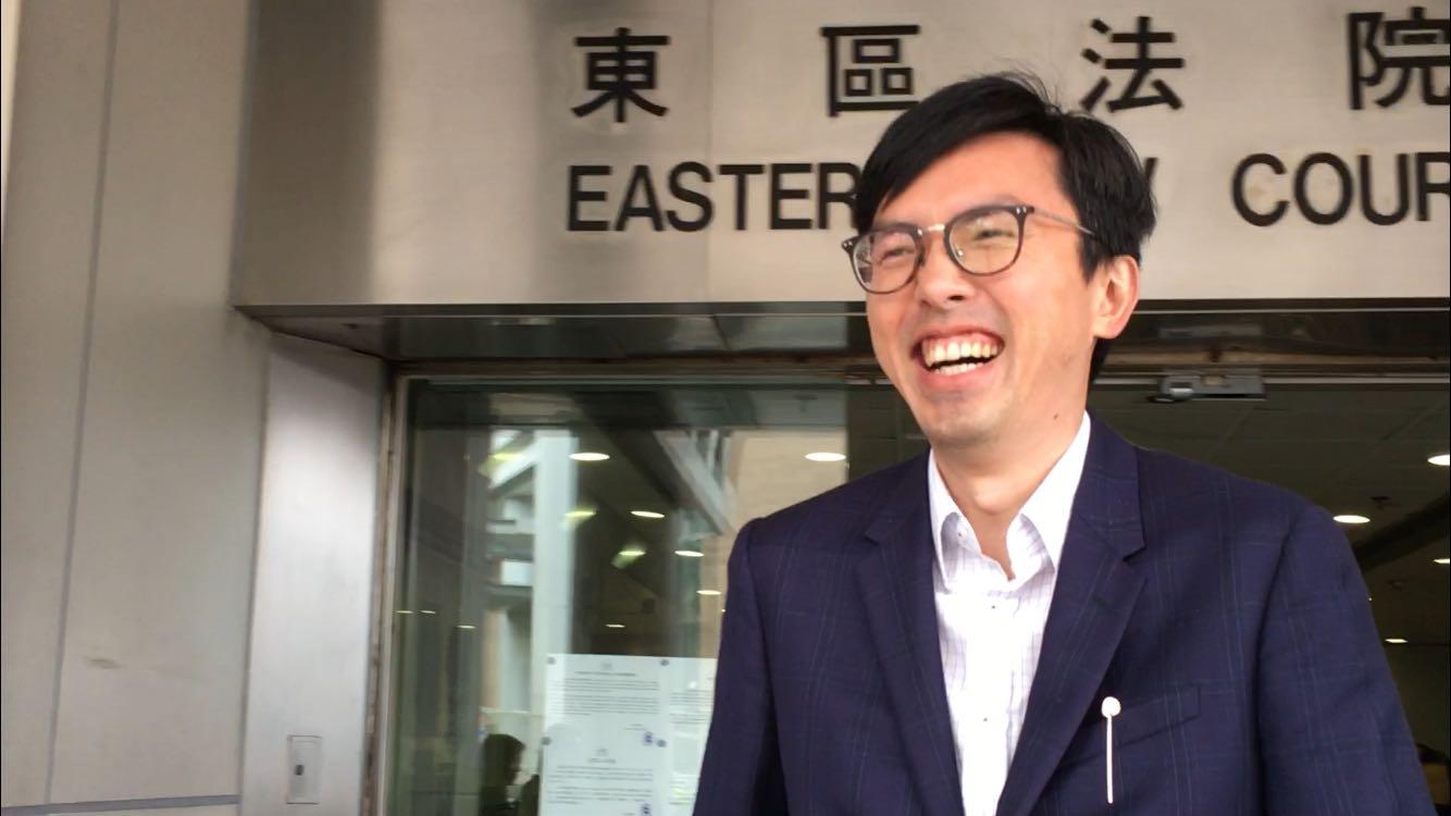 社民連主席吳文遠涉嫌於向公眾披露民政事務局常任秘書長馮程淑儀是廉政公署受調查人身份等資料。劉曉曦攝