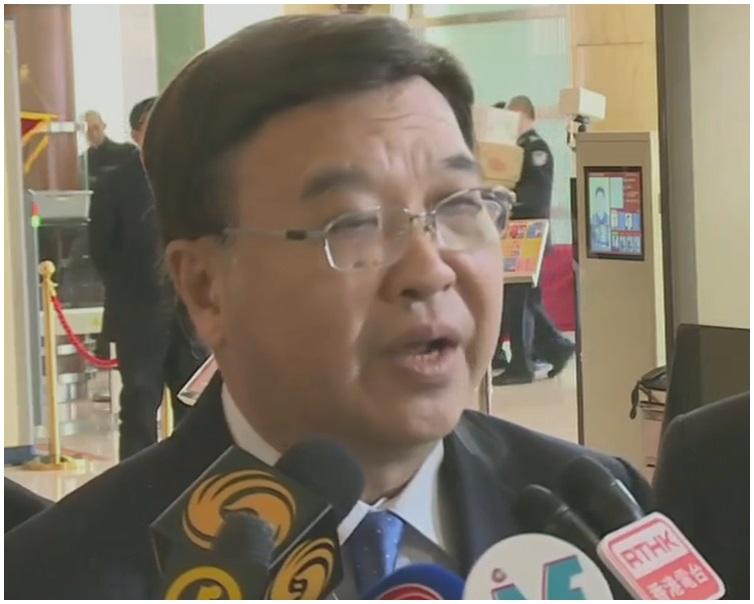 副團長黃玉山會後引述王滬寧講話。有線電視截圖
