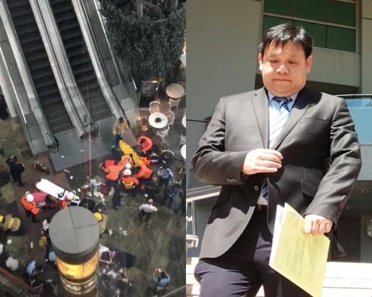 旺角朗豪坊去年3月發生扶手電梯意外,奧的斯代表認罪。資料圖片/黃梓生攝